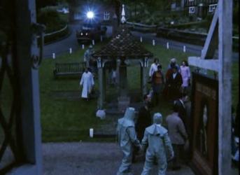 The village of hambledown being taken away
