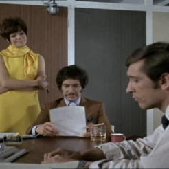 Peter Wyngarde as Jason King, Rosemary Nicols as Annbelle Hurst and Joel Fabiani as Stewart Sullivan