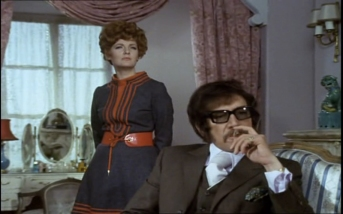 Peter Wyngarde as Jason King and Barbara Murray as Tania