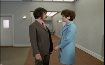 Peter Wyngarde as Jason King and Rosemary Nichols as Annabelle Hurst