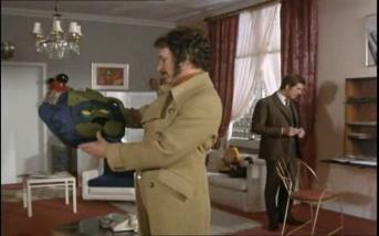 Peter Wyngarde as Jason King and Joel Fabiani as Stewart Sullivan