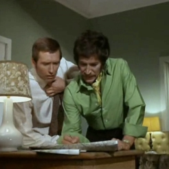 Joel Fabiani as Stewart Sullivan and Peter Wyngarde as Jason King