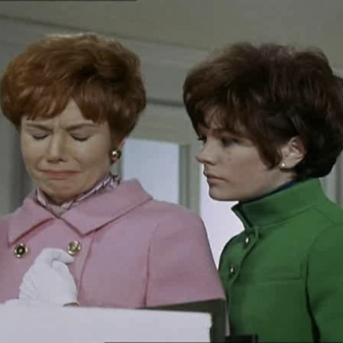 Rosemary Nicols as Annabelle Hurst and Patricia English as Mrs. Taylor
