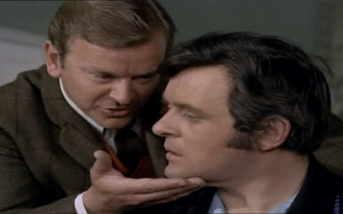 Anthony Hopkins as Greg Halliday and Frederick Jaeger as Arkwright