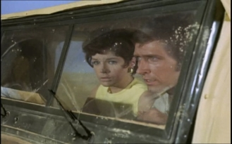 Rosemary Nicols as Annabelle Hurst and Joel Fabiani as Stewart Sullivan