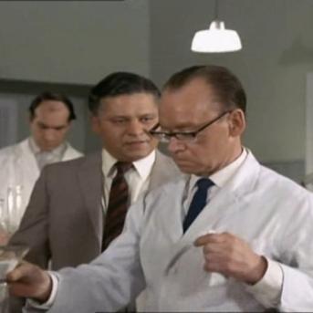 Wolfe Morris as Takla and John Cazabon as Chemist
