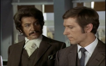Peter Wyngarde as Jason King and Joel Fabiani as Stewart Sullivan