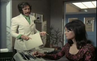 Peter Wyngarde as Jason King and Isobel Black as Maria