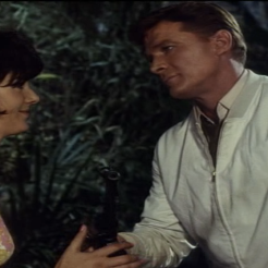 Steve Forrest and Sue Lloyd in The Baron
