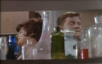 Sue Lloyd and Steve Forrest in The Baron