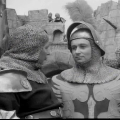 William Russell as Sir Lancelot
