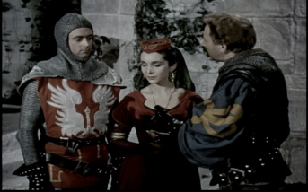William Russell, Maxine Audley and Robert Scroggins