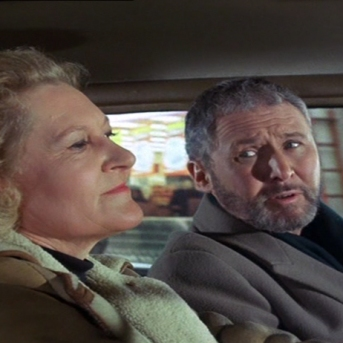 Anthony Quayle as Adam Strange and Peggy Thorpe-Bates as Mrs. Deeds