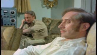 Robert Vaughn as Harry Rule and Vladek Sheybal as Sandor Karoleon
