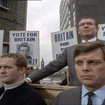 Guy Doleman as Glyn Crowley and Karl Held as Drake