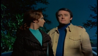 Robert Vaughn and Nyree Dawn Porter