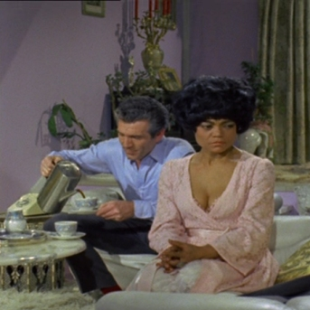 Kieron Moore and Eartha Kitt