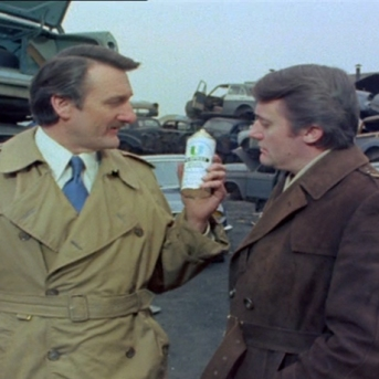 Robert Vaughn and Peter Jeffrey