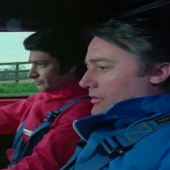 Tony Anholt and Robert Vaughn